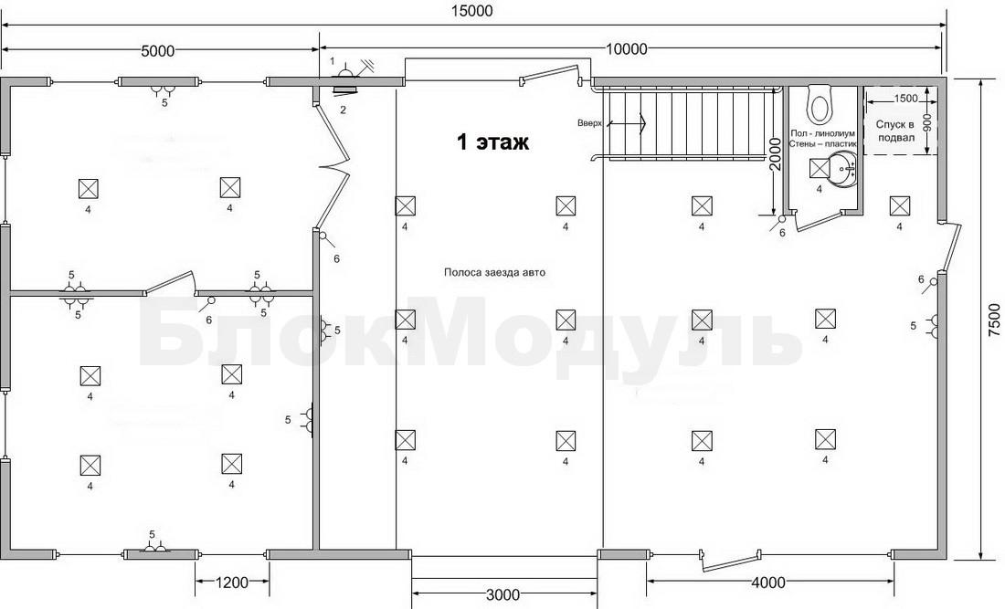 thumb_Двухэтажный модульный автосервис — СТО 15х7.5м - Фото № 4