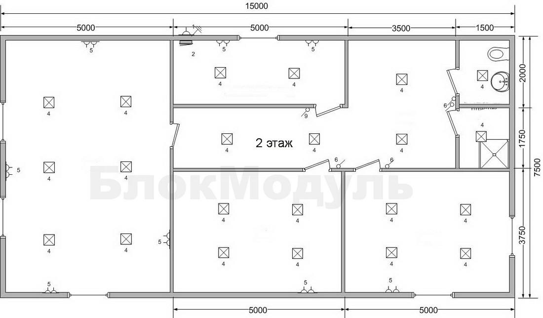 thumb_Двухэтажный модульный автосервис — СТО 15х7.5м - Фото № 3
