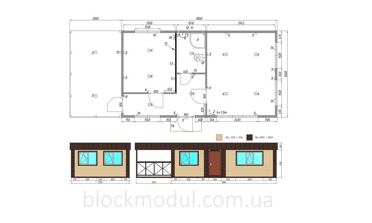 thumb_Адміністративно побутовий модуль 12х5м з верандою для ДП «Укркосмос» - Фото № 8
