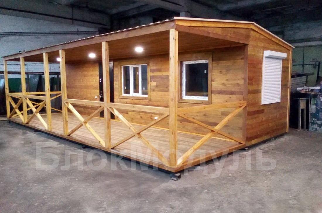 Модульный дом с верандой-2