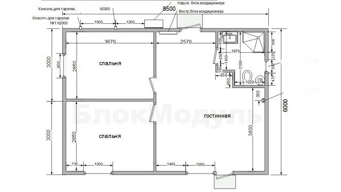 thumb_Модульный дом 8.5х6м для отдыха с комфортом. - Фото № 8