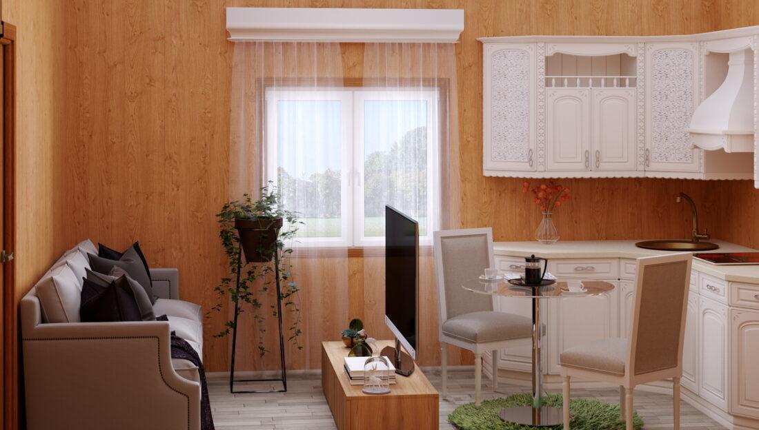 быстровозводимый сборный дом - интерьер