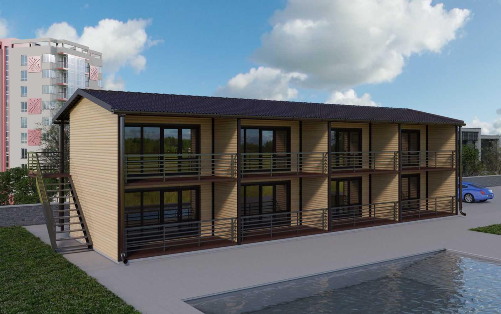 Модульные общежития и отели