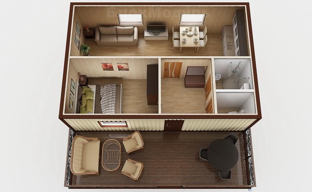 Модульный дом МДТ1