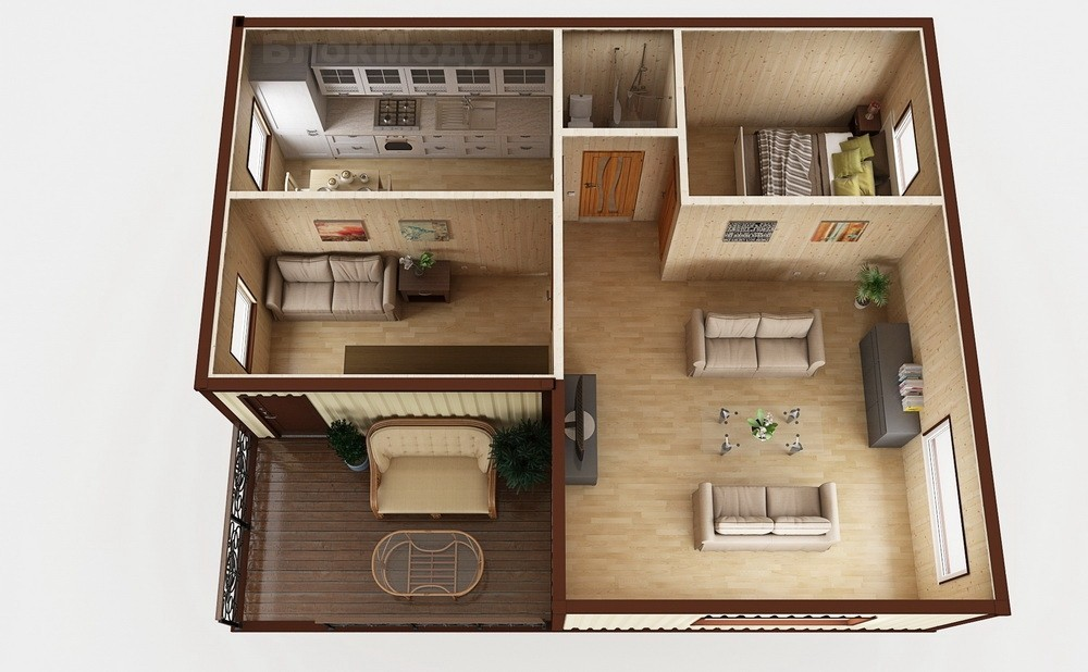 Модульный дом МДТ2