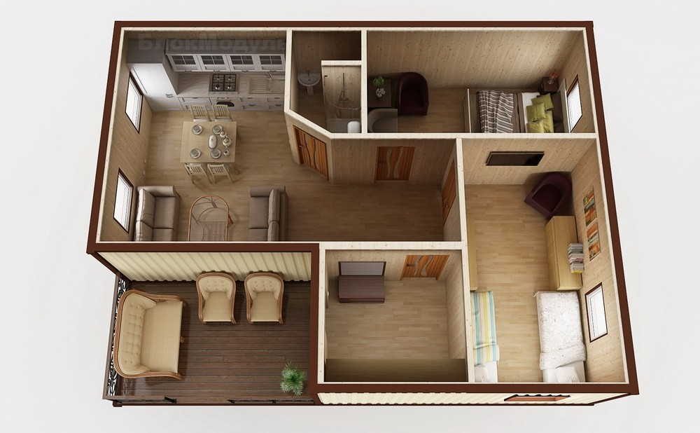 Модульный дом МДТ3