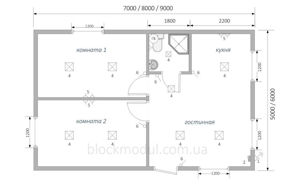 Дачный домик ДДМ3 - Фото № 3