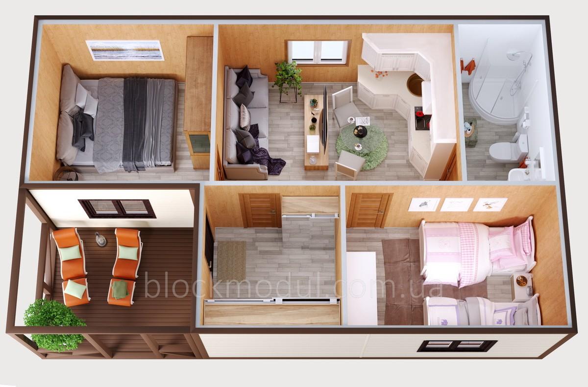 Модульный дом МД6