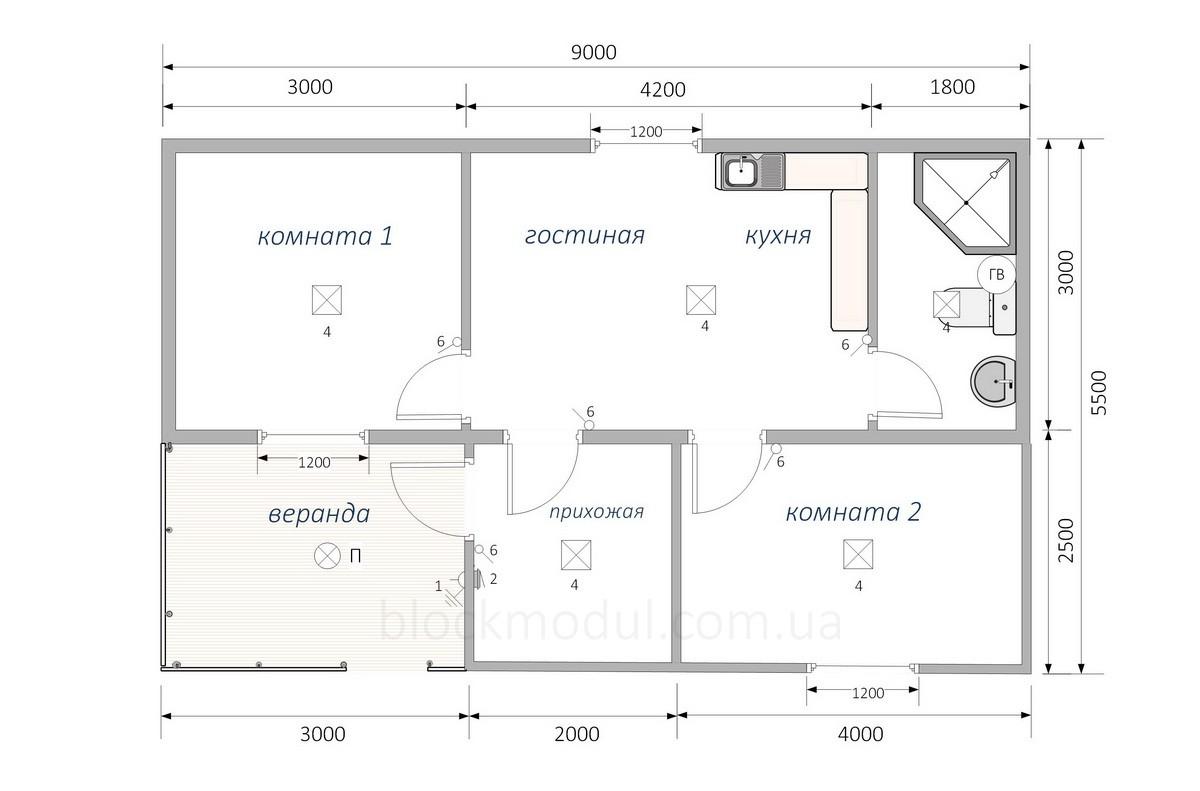 Модульный дом МД6 - Фото № 2