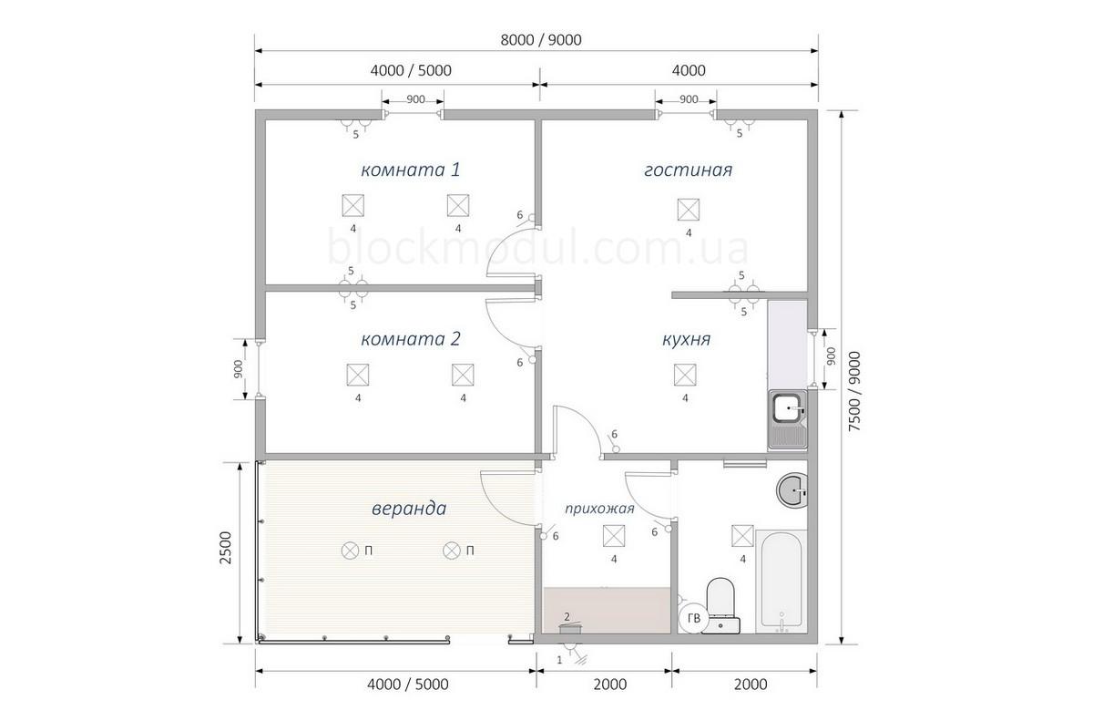 Модульный дачный дом ДДТ4 - Фото № 2