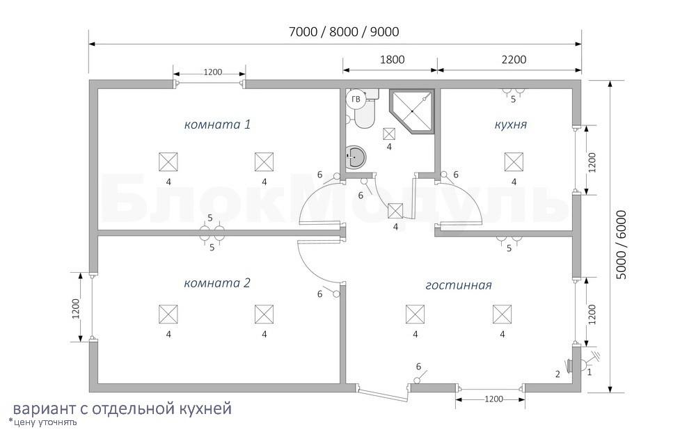 Дачный домик ДДМ3 - Фото № 4
