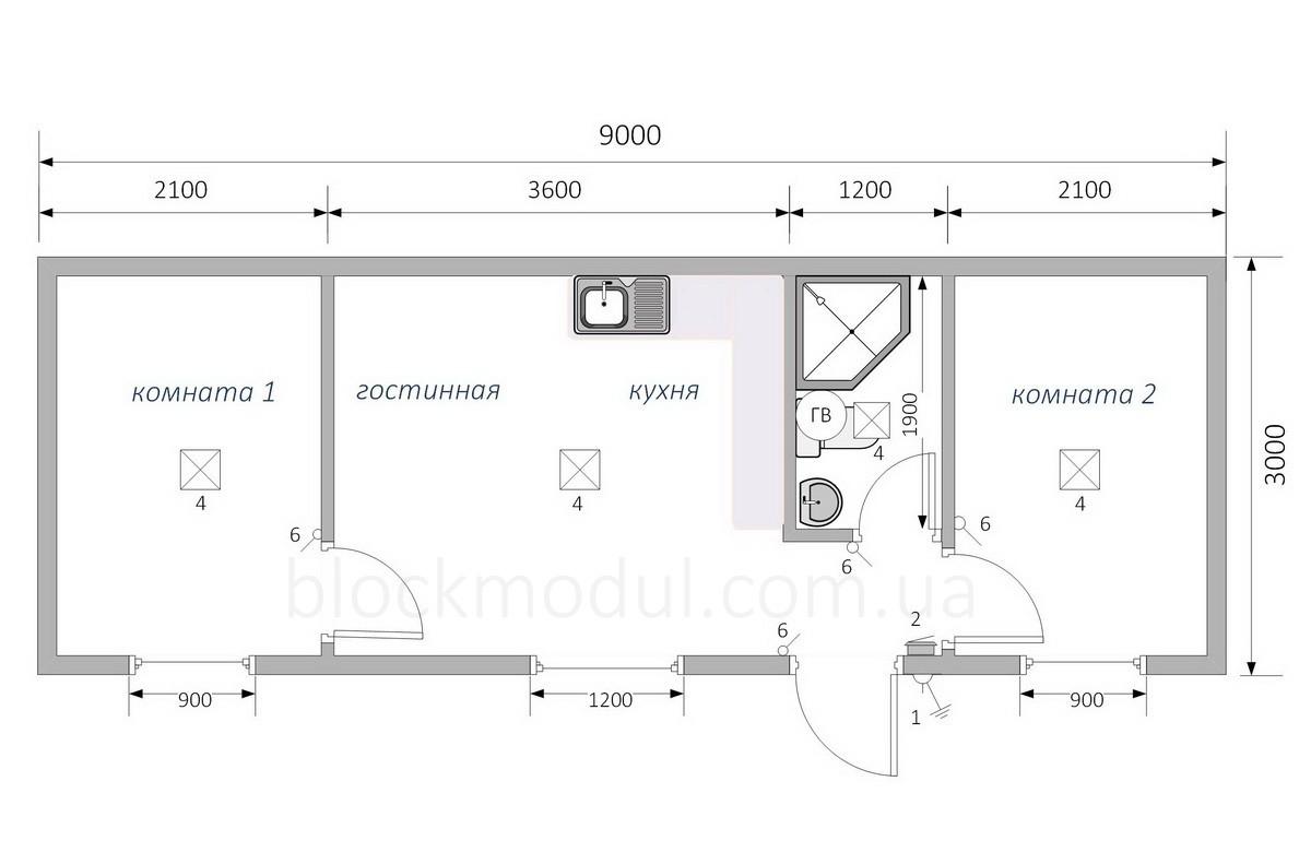 Дачный домик ДД9 - Фото № 2