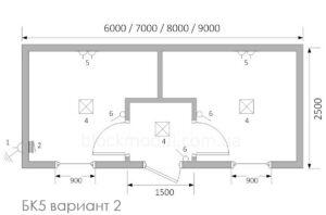 thumb_Бытовка / Блок контейнер БК5 - Фото № 3
