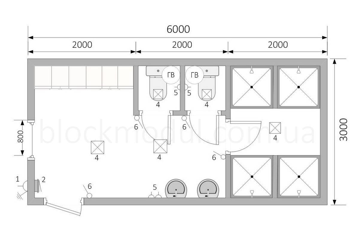 Санитарный блок СБ8 - Фото № 2