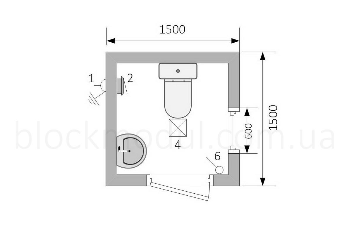 Туалетный модуль СБТ1 - Фото № 2