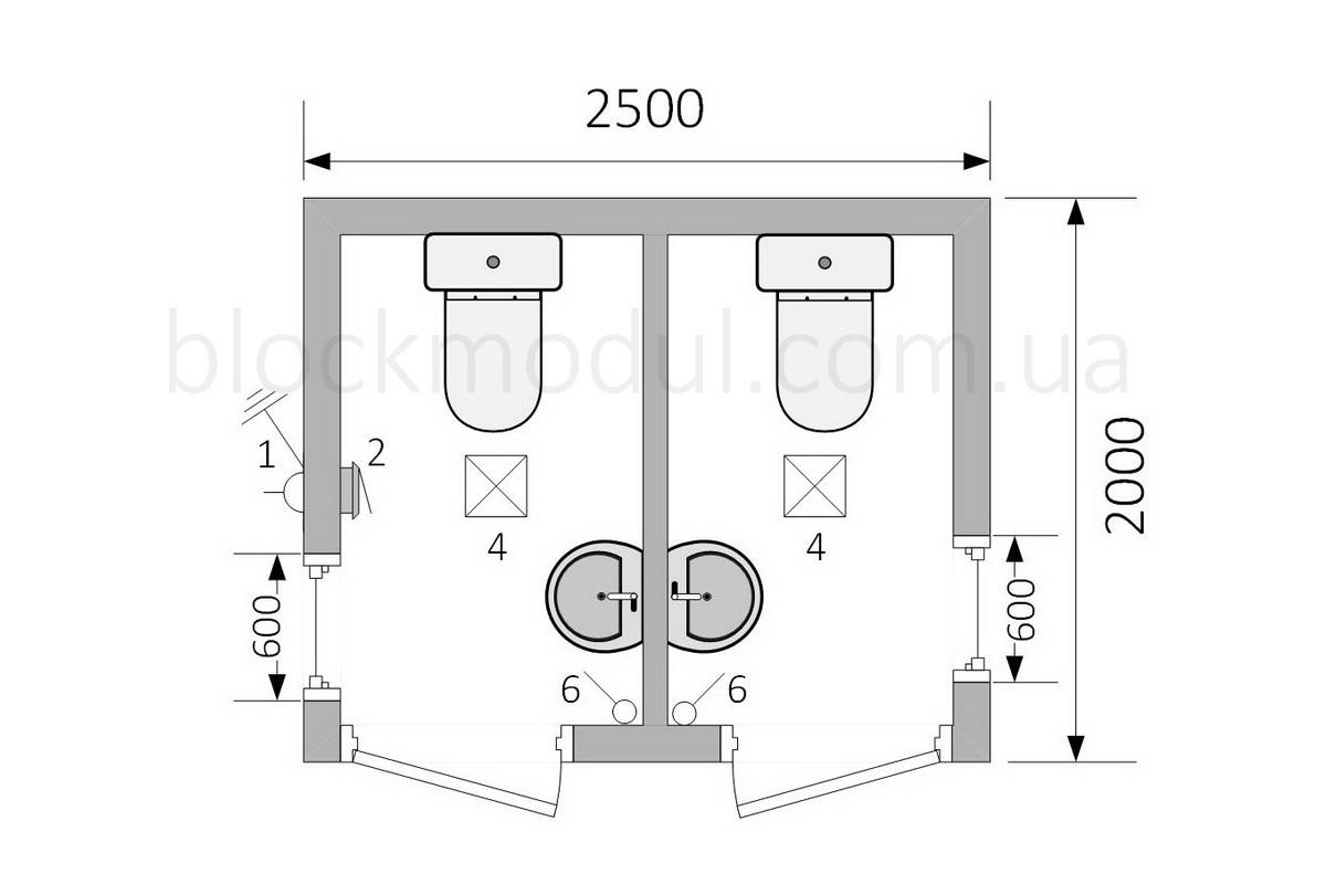 Туалетний модуль СБТ2 - Фото № 2