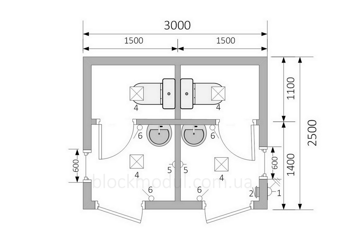Туалетный модуль СБТ3 - Фото № 2