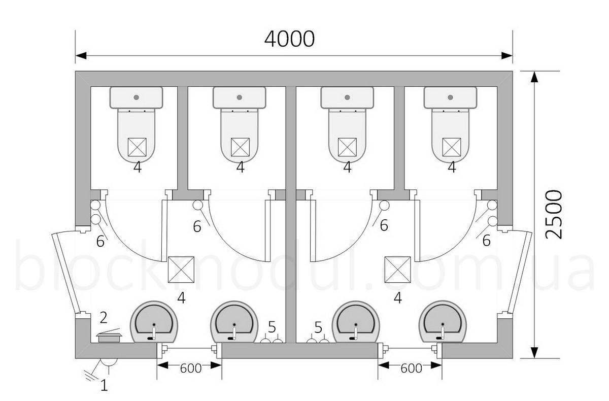 Туалетний модуль СБТ4 - Фото № 2