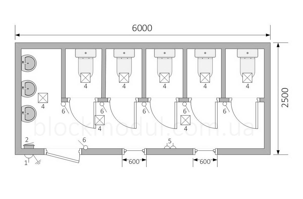 Туалетный модуль СБТ5 - Фото № 2