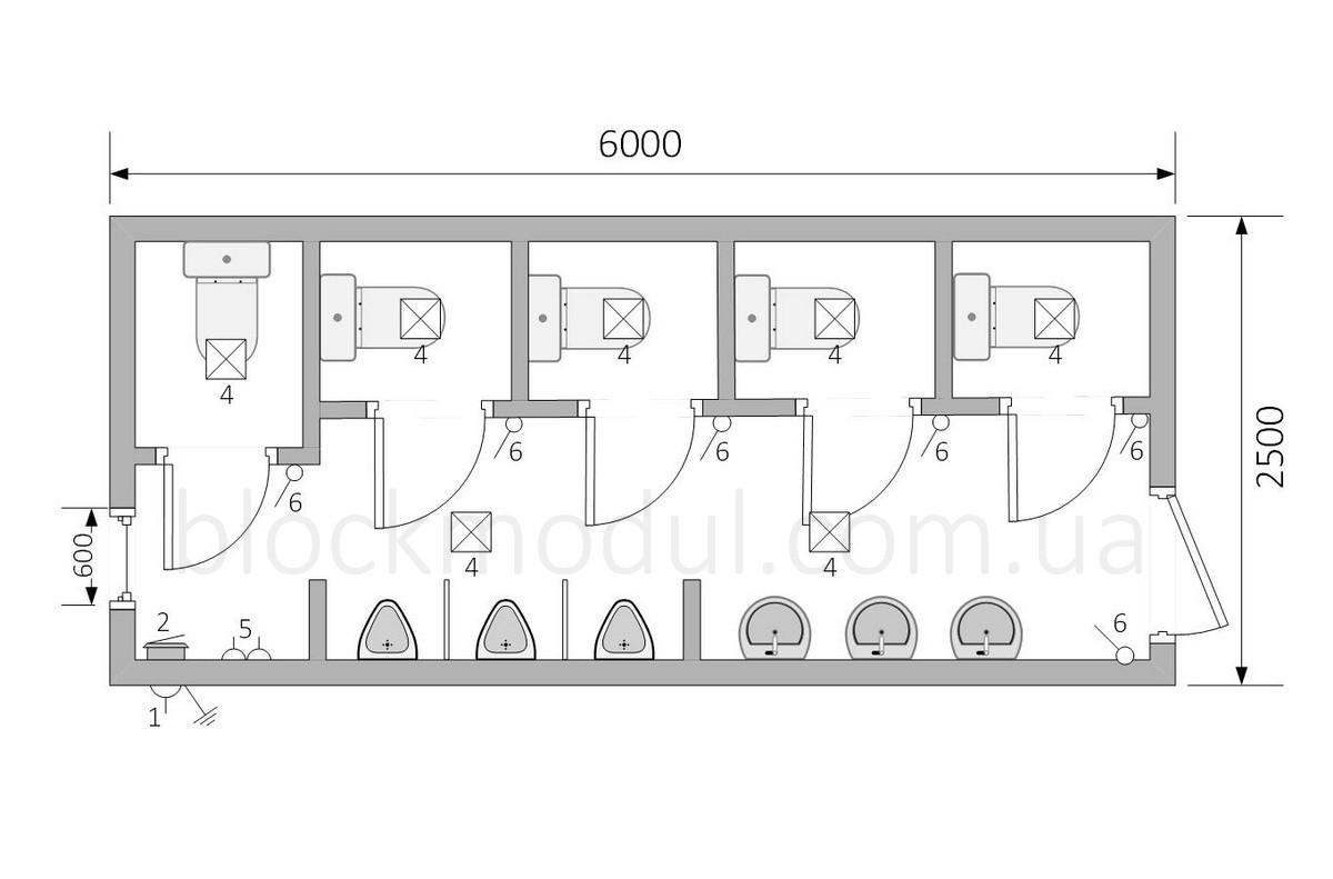 Туалетный модуль СБТ6 - Фото № 2
