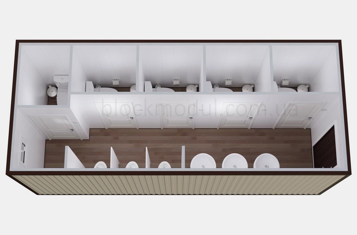Туалетный модуль СБТ6
