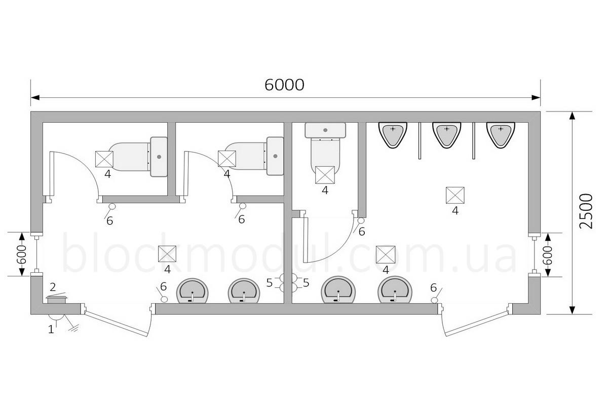 Туалетный модуль СБТ8 - Фото № 2