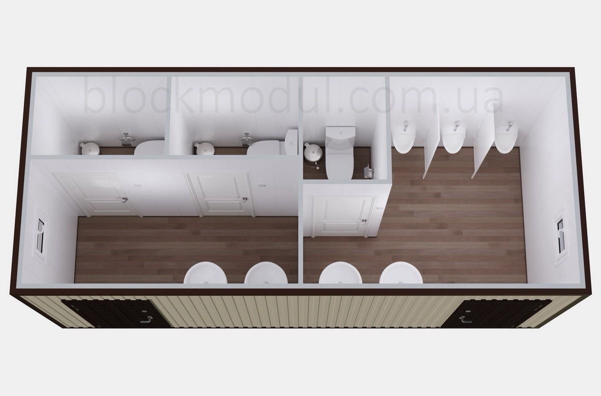 Туалетный модуль СБТ8