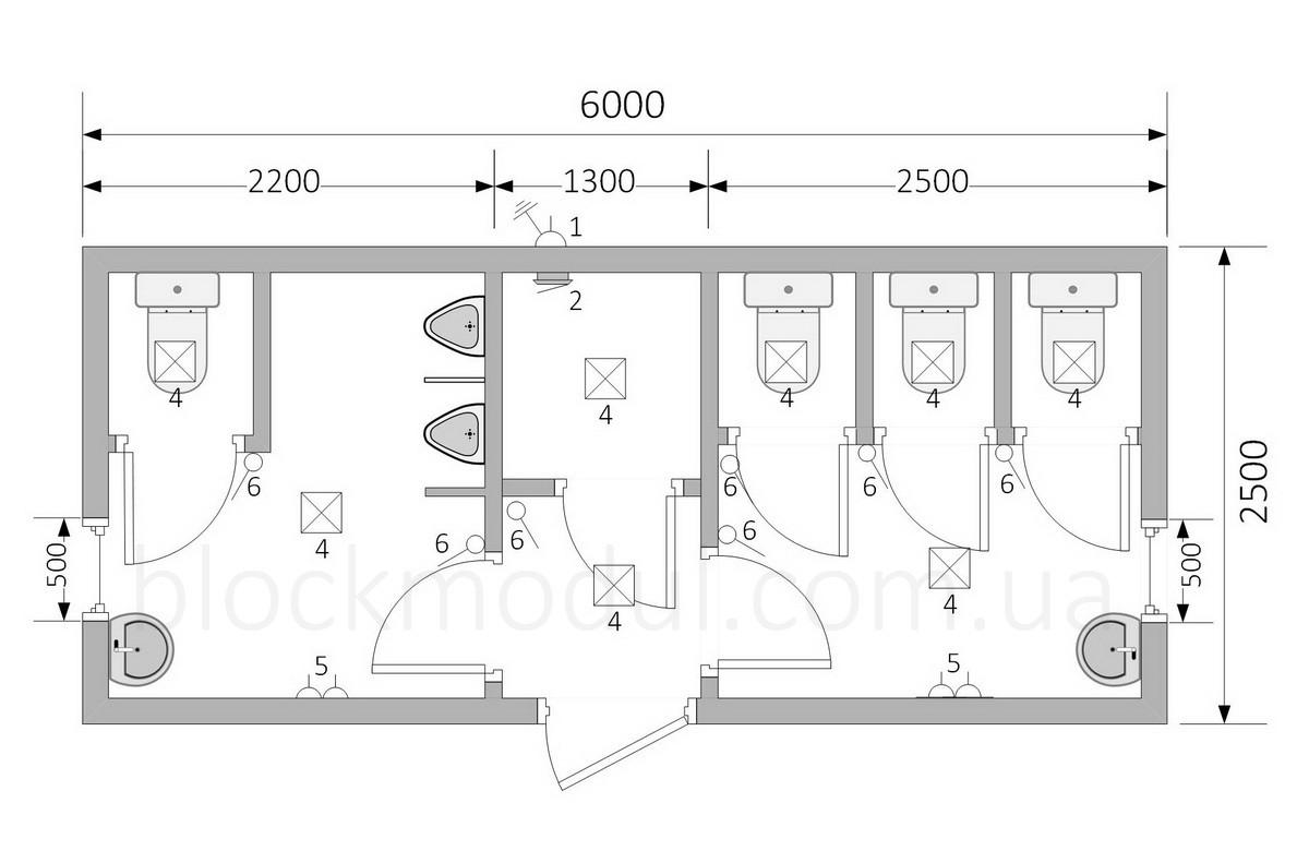 Туалетний модуль СБТ9 - Фото № 2