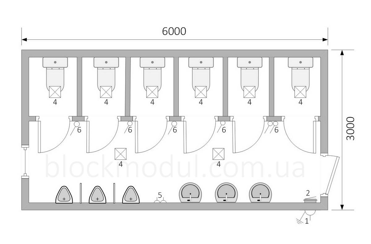 Туалетний модуль СБТ10 - Фото № 2