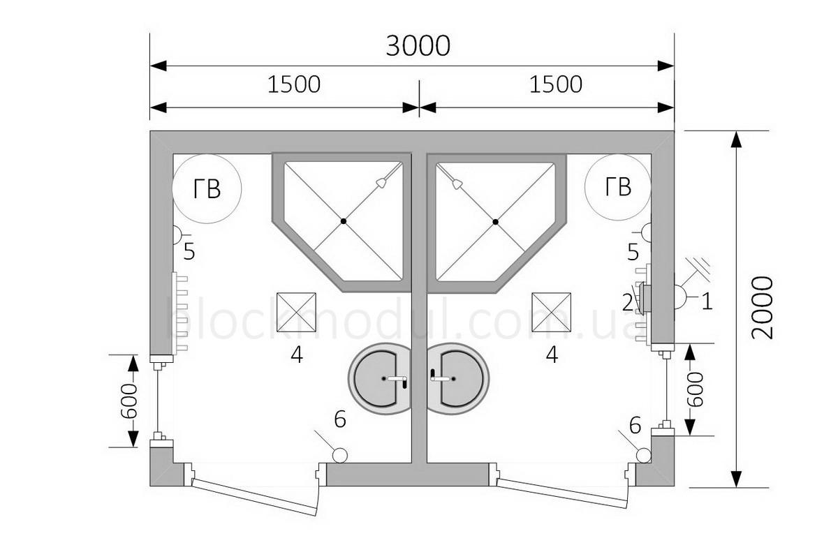 Душевой модуль СБД1 - Фото № 2