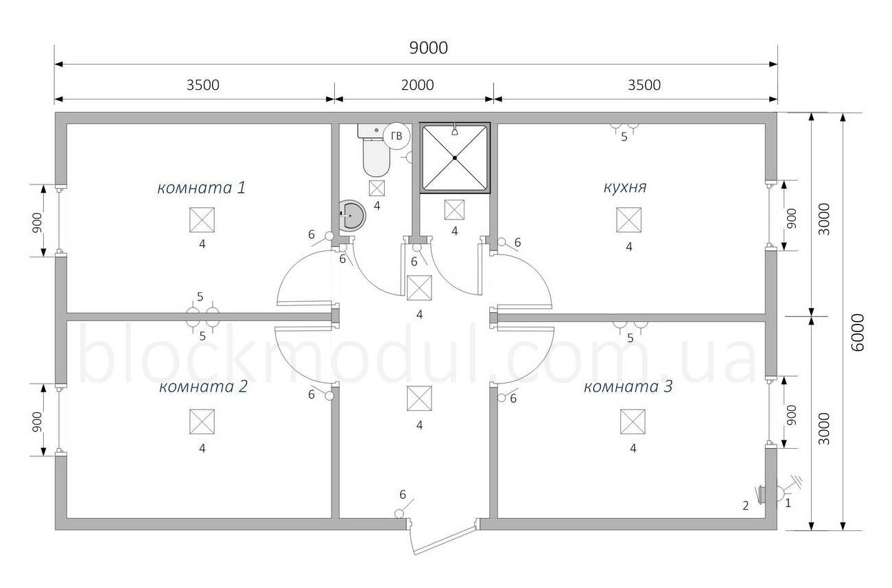 Модульное общежитие на 6 чел. ОМ1 - Фото № 2