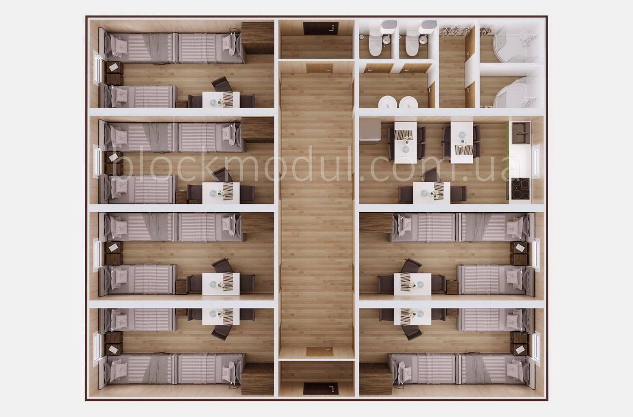 Модульный отель на 18 чел. ОМ2