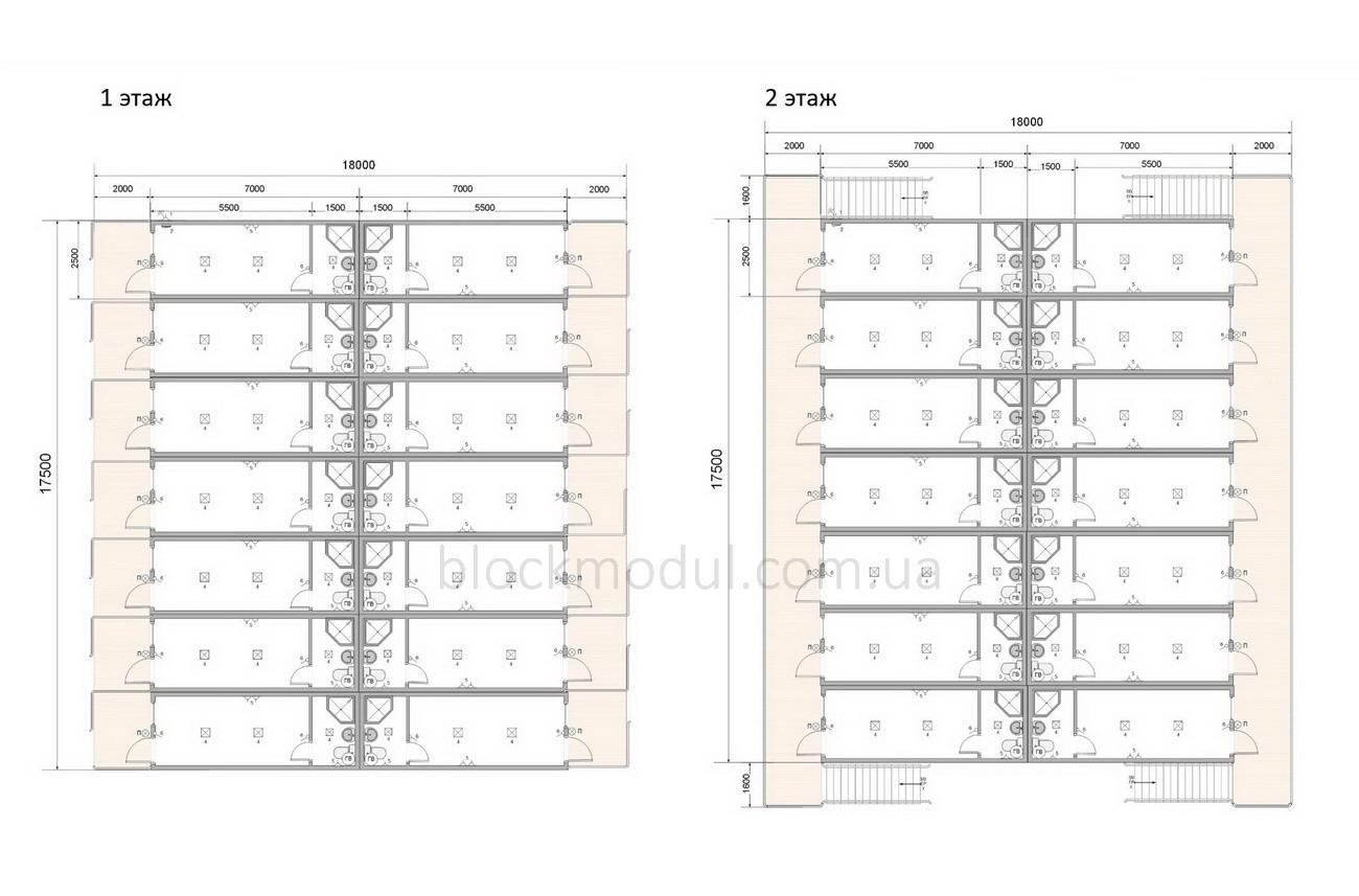 Модульный отель на 56 чел. ОМ4 - Фото № 2