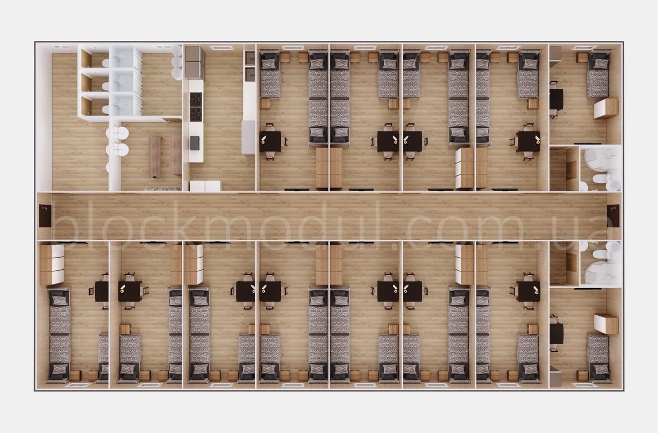 Модульное общежитие на 35 чел. ОМ3