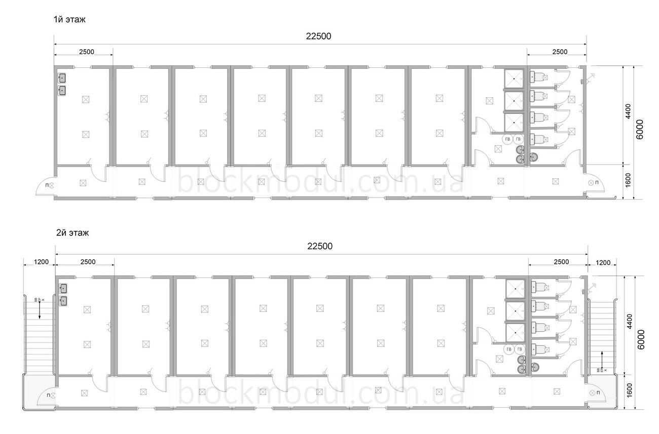 Модульное общежитие на 20 чел. ОМ5 - Фото № 2