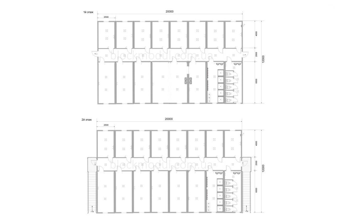 Модульное общежитие на 59 чел. ОМ6 - Фото № 2