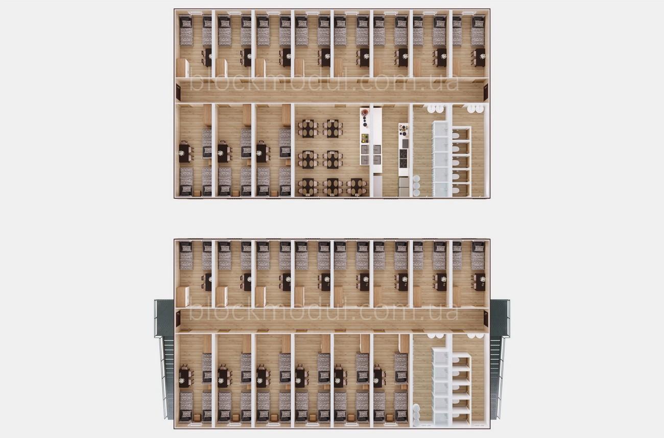 Модульное общежитие на 59 чел. ОМ6