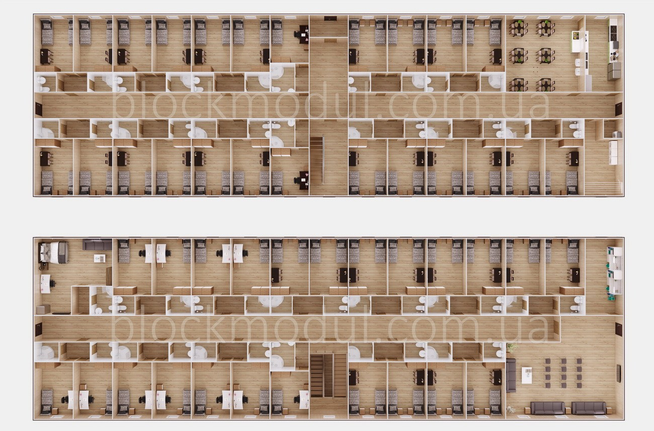 Модульное общежитие на 82 чел. ОМ7