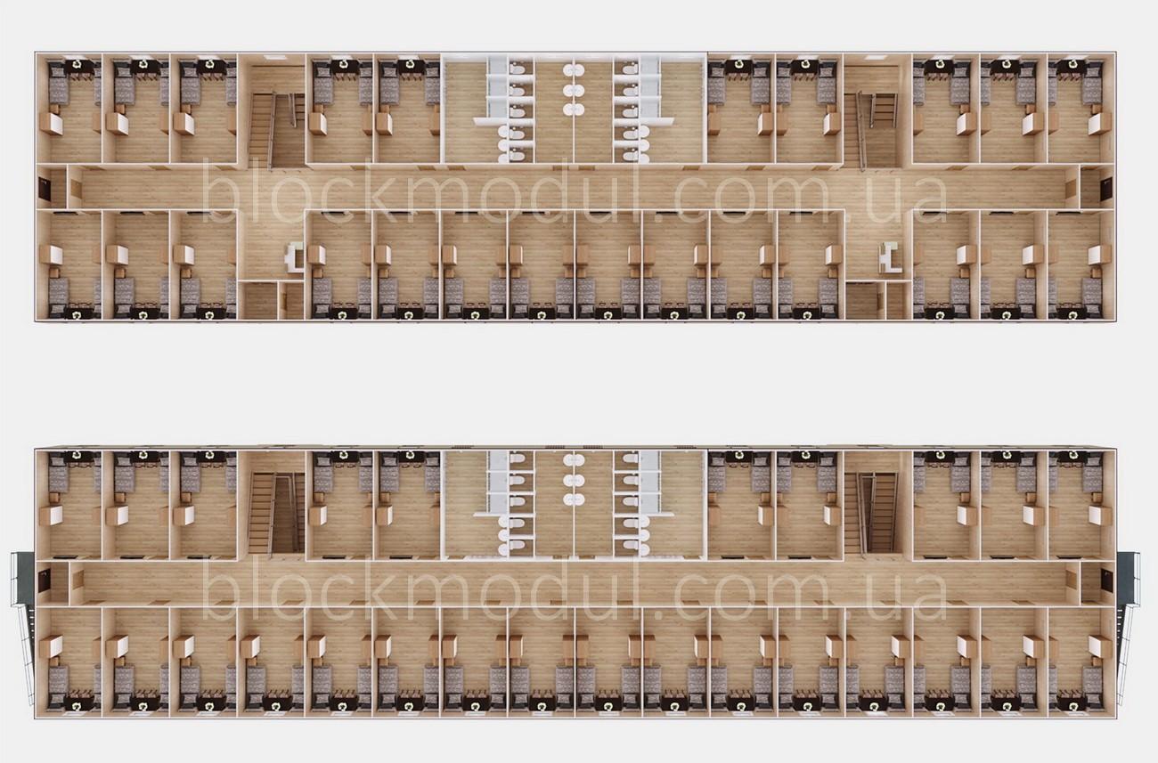 Модульное общежитие на 100 чел. ОМ8