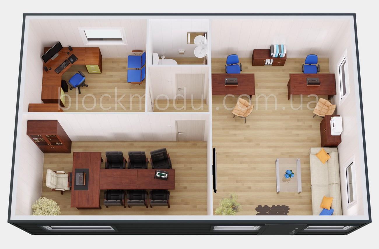 Модульный офис продаж ОФМ3