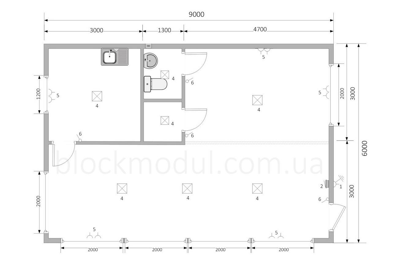 Модульний офіс продажів ОФМ5 - Фото № 2