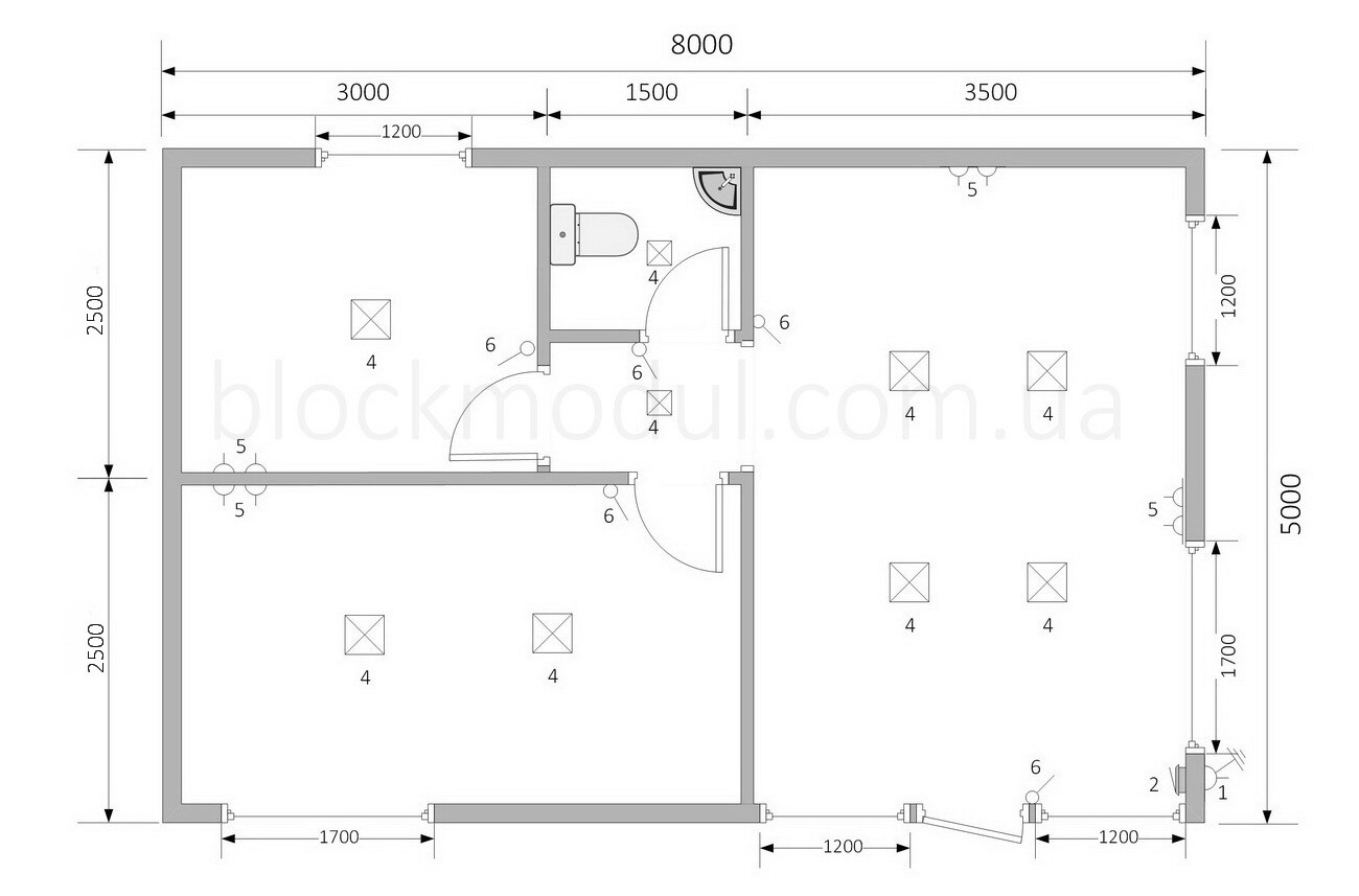 Модульний офіс продажів ОФМ3 - Фото № 2