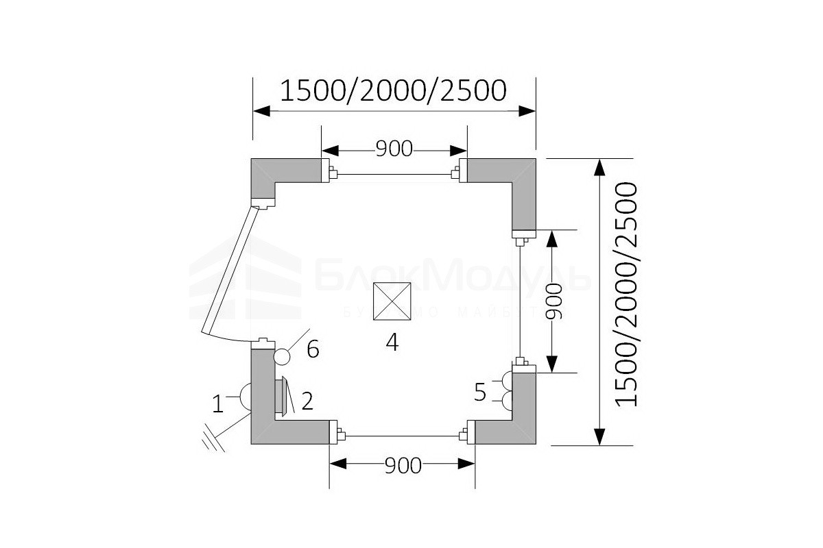 Пост охраны БП1 - план схема